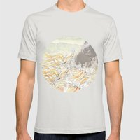 Fluid Mens Fitted Tee Silver SMALL