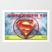 Supermen 12 The Lifting … Art Print
