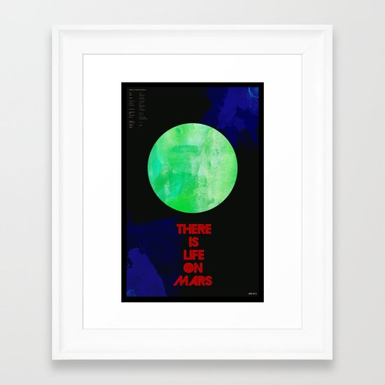 There Is Life On Mars Framed Art Print