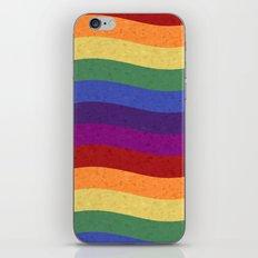 Wavy Rainbow Colors iPhone & iPod Skin