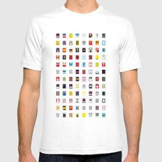 Minimalism robots (Good natured / Defenders) White SMALL Mens Fitted Tee