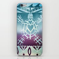 Tribal Sea Turtle iPhone & iPod Skin