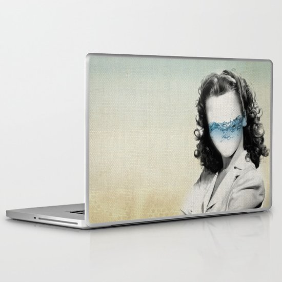 the glass half full Laptop & iPad Skin