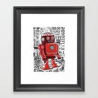 Robot Flux Framed Art Print