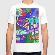 Abstract 19 Mens Fitted Tee White SMALL