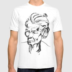 Old women SMALL Mens Fitted Tee White