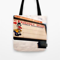 The Friendly Duck Restaurant Tote Bag