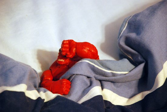 Red Hulk Not Morning Person Art Print