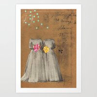 The Two Bettys Art Print