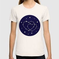 Star Lovers Womens Fitted Tee Natural SMALL