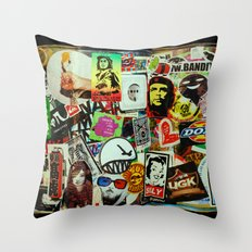 Stickerz  Throw Pillow