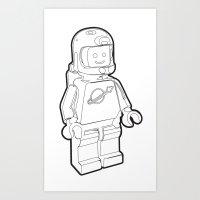 Vintage Lego Spaceman Wi… Art Print