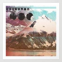 Mountainous Range Art Print