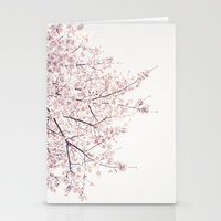 cherry blossom Stationery Cards featuring cherry blossom by Neon Wildlife