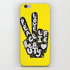 PEACE, LOVE, BEAUTY, LIFE iPhone & iPod Skin