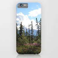 iPhone & iPod Case featuring For Spacious Skies :: Purple Mountains Majesty by RipdNTorn