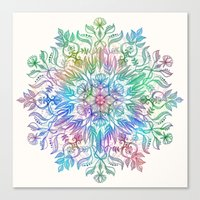Nature Mandala In Rainbo… Canvas Print