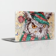 Christmas Owl Laptop & iPad Skin