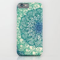 mandala iPhone & iPod Cases featuring Emerald Doodle by micklyn