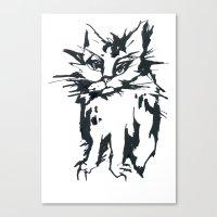 A Threatening Cat Canvas Print