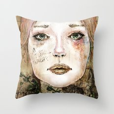 Indelicate Thorns Throw Pillow