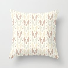 Boston Terrier Wood Pattern Throw Pillow