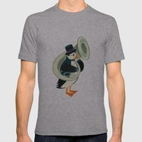 Puffin On A Tuba Mens Fitted Tee Athletic Grey SMALL