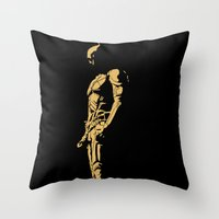 KNIGHT IN THE DARK Throw Pillow