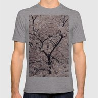 Cherry Blossom * Mens Fitted Tee Athletic Grey SMALL