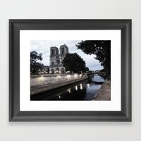 the hunchback of notre dame - seine Framed Art Print