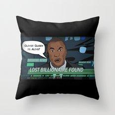 Starling City News Throw Pillow