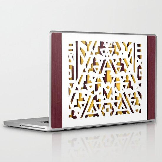 Aztec Pattern Papercut Laptop & iPad Skin
