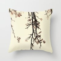 Delicate like rain Throw Pillow