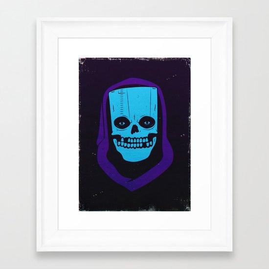 8-BIT MONSTER / CARTRIDGE GHOST Framed Art Print