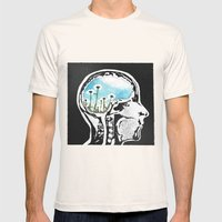 Brain Flowers Mens Fitted Tee Natural SMALL