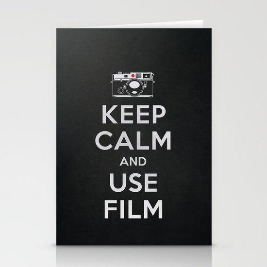 Keep Calm And Use Film Stationery Card
