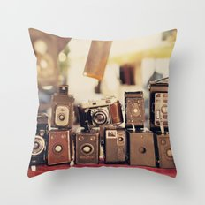 Old Cameras (Vintage And… Throw Pillow