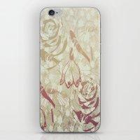 Retro Flowers iPhone & iPod Skin