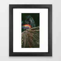 rainbow at the center of the earth Framed Art Print