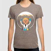 Science is Fun Womens Fitted Tee Tri-Coffee SMALL