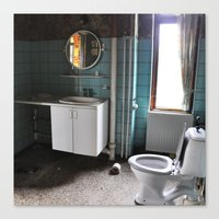 Abandoned Toilet Canvas Print