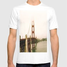 GG Bridge San Francisco White Mens Fitted Tee SMALL