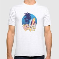 Aloha-friendly surf, summer, beach Mens Fitted Tee Ash Grey SMALL