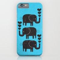 elephants iPhone & iPod Cases featuring ELEPHANTS by Matthew Taylor Wilson