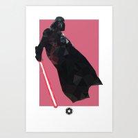 Darth Vader Polygon Mesh Art Print
