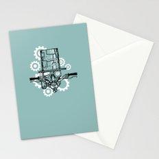Robot Handlebar Mustache  Stationery Cards