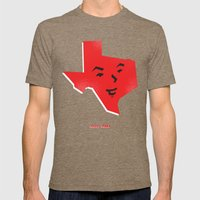 Happy Texas Mens Fitted Tee Tri-Coffee SMALL