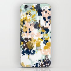 Sloane - Abstract painting in modern fresh colors navy, mint, blush, cream, white, and gold iPhone & iPod Skin