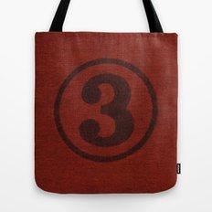 number series: #3 Tote Bag
