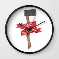 Fail Better Axe Wall Clock